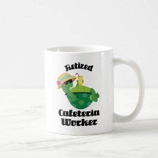 Trabajador jubilado de la cafetería (tortuga) taza