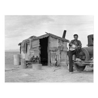 Trabajador mexicano migratorio: 1937 tarjeta postal