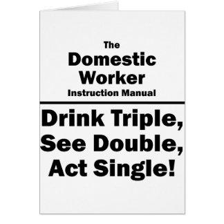 trabajador nacional tarjeta pequeña