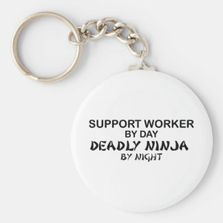 Trabajador Ninja mortal de la ayuda Llavero Personalizado