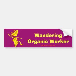 Trabajador orgánico que vaga (ALTAVOZ DE GRAVES) Pegatina Para Auto