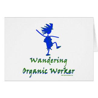 Trabajador orgánico que vaga (ALTAVOZ DE GRAVES) Tarjeta De Felicitación