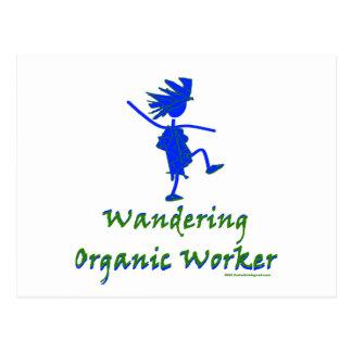 Trabajador orgánico que vaga (ALTAVOZ DE GRAVES) Tarjeta Postal