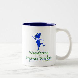 Trabajador orgánico que vaga (ALTAVOZ DE GRAVES) Taza De Café De Dos Colores