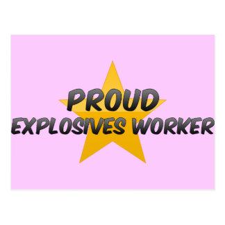Trabajador orgulloso de los explosivos postal
