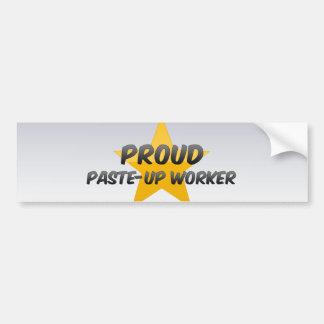 Trabajador orgulloso de los relieves etiqueta de parachoque