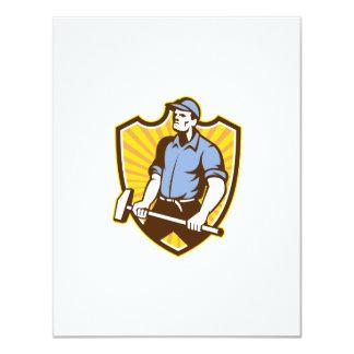 """Trabajador que maneja el escudo de la almádena invitación 4.25"""" x 5.5"""""""