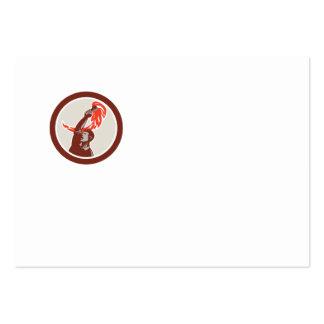 Trabajador que soporta el círculo llameante de la plantilla de tarjeta de visita