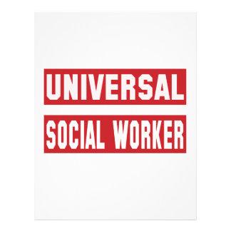 Trabajador social universal plantilla de membrete