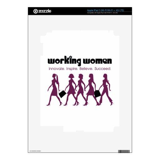 Trabajadoras: Innovate.Insipire.Believe.Succeed Pegatinas Skins Para iPad 3