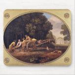 Trabajadores, 1781 (esmalte en earthe de la gallet alfombrillas de ratón