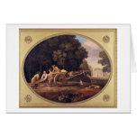 Trabajadores, 1781 (esmalte en earthe de la gallet tarjeta de felicitación