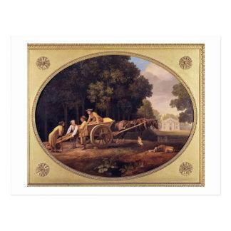 Trabajadores, 1781 (esmalte en earthe de la postal