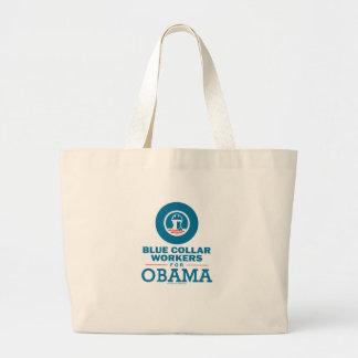 Trabajadores de cuello azul para Obama Bolsas De Mano
