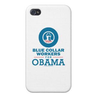 Trabajadores de cuello azul para Obama iPhone 4/4S Fundas