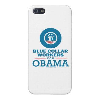 Trabajadores de cuello azul para Obama iPhone 5 Cárcasas