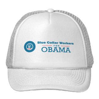 Trabajadores de cuello azul para Obama Gorra