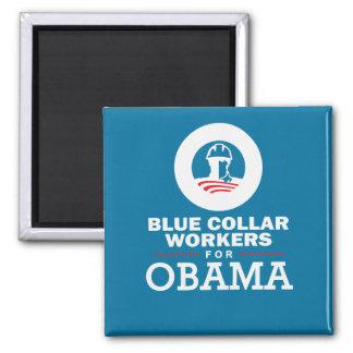Trabajadores de cuello azul para Obama Imanes