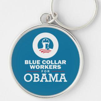 Trabajadores de cuello azul para Obama Llavero Personalizado