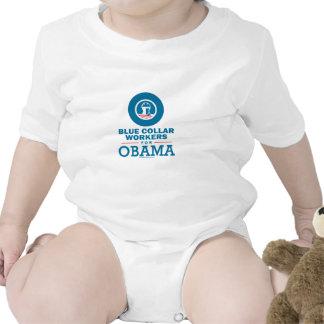 Trabajadores de cuello azul para Obama Trajes De Bebé