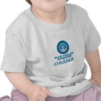Trabajadores de cuello azul para Obama Camiseta