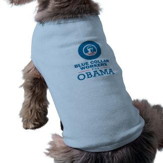 Trabajadores de cuello azul para Obama Camisas De Perritos