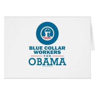 Trabajadores de cuello azul para Obama Tarjetas
