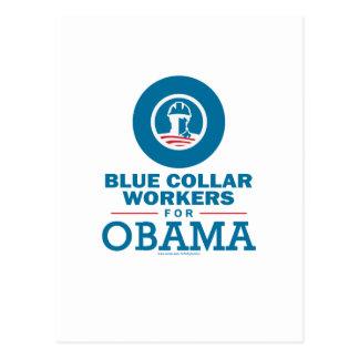 Trabajadores de cuello azul para Obama Postal