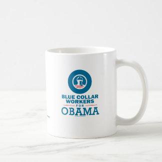 Trabajadores de cuello azul para Obama Taza De Café