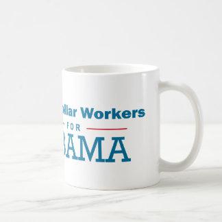 Trabajadores de cuello azul para Obama Tazas