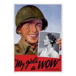 Trabajadores de la artillería de las mujeres de WW Póster