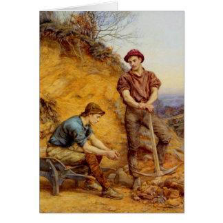 Trabajadores de la mina por Wetherbee Tarjeta De Felicitación