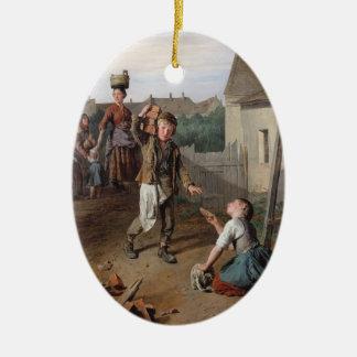 Trabajadores de la Waldmüller-Construcción de Fern Adornos De Navidad