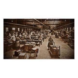 Trabajadores de mujeres de WWI en fábrica de las Tarjetas De Visita