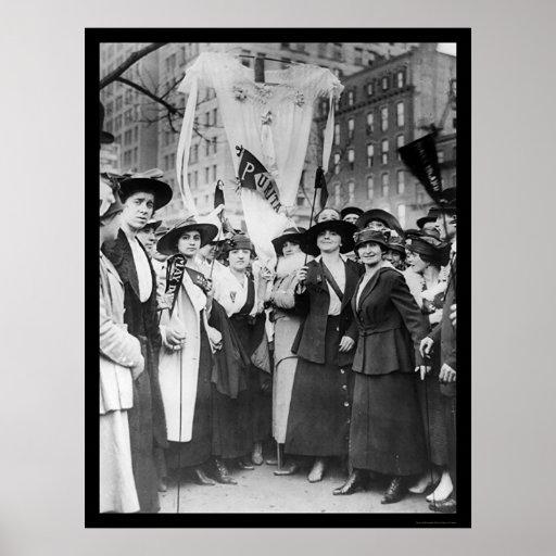 Trabajadores de ropa del desfile NYC 1916 Impresiones