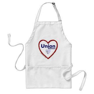 Trabajadores de unión del amor delantal