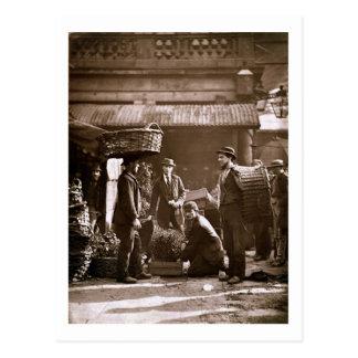 Trabajadores del jardín de Covent (woodburytype) Postal