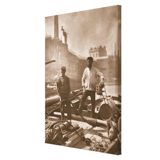 """Trabajadores en la """"carretera silenciosa"""", a parti lienzo envuelto para galerías"""