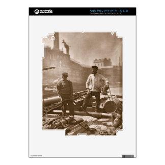 """Trabajadores en la """"carretera silenciosa"""", a parti pegatinas skins para iPad 3"""