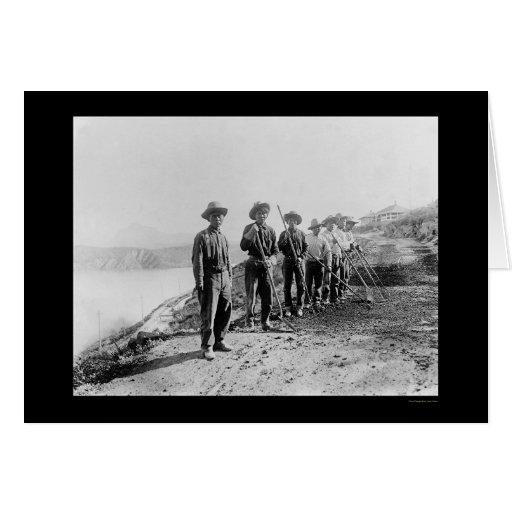 Trabajadores indios de Apache en el río Salt 1922 Tarjeta De Felicitación
