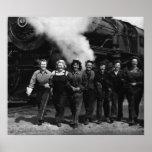 Trabajadores inspirados del ferrocarril de las muj impresiones