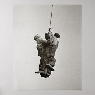 Trabajadores levantados por Crane, 1935. Foto del Póster