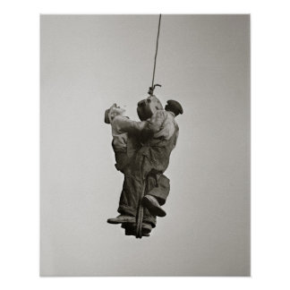 Trabajadores levantados por Crane, 1935 Poster
