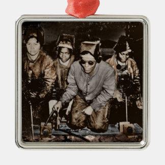 Trabajadores siderúrgicos afroamericanos WWII Adorno Para Reyes