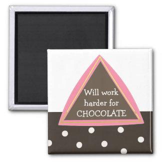 Trabajará más difícilmente para el chocolate imán cuadrado