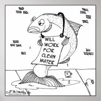 Trabajará para el agua potable impresiones