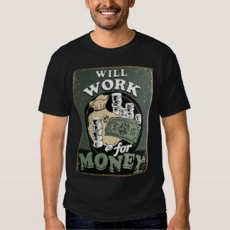 Trabajará para el dinero poleras