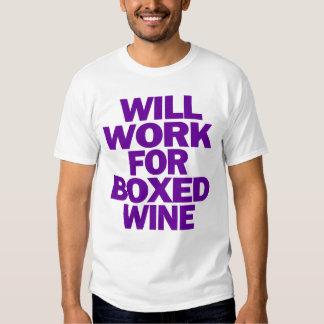 trabajará para la camiseta encajonada del vino polera