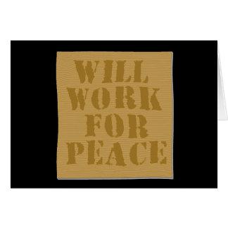 Trabajará para la paz felicitaciones