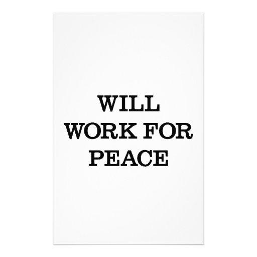 Trabajará para la paz papeleria